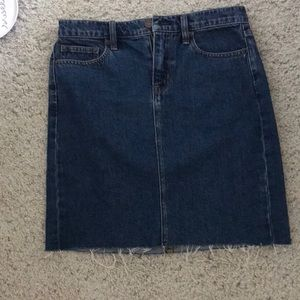 J Crew mid length jean skirt